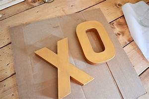 paint xo cardboard letters gold angie39s roost With gold cardboard letters