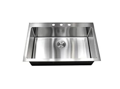 best stainless steel sink 30 quot top mount single bowl kitchen sink 16 304