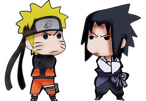 Naruto Vs Sasuke Chibi By Robotherpgrobot On Deviantart