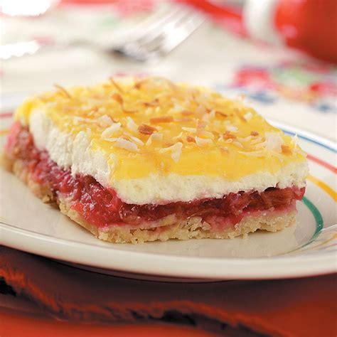 cool rhubarb dessert recipe taste of home