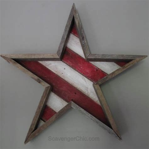 star template for pallet 4th of july white and blue patriotic decor knick of time