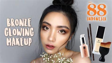Review Bedak Ver 88 Indonesia bronze glowing makeup ft ver 88 indonesia tutorial