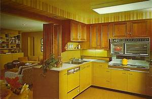 Retro 1970s Kitchen Cabinets Railing Stairs And Kitchen
