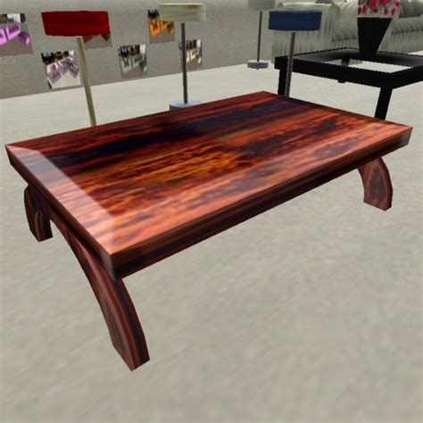 Second Life Marketplace  Cherry Wood Coffee Table