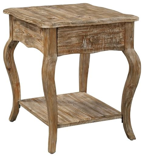 side table shop houzz bolton furniture inc rustic reclaimed end Farmhouse