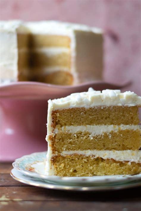 easy vanilla cake recipe great british chefs