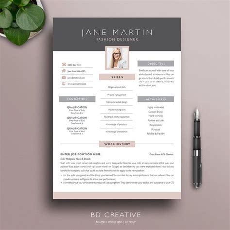 Style Cv by Creative Resume Template 2 Modern Professional