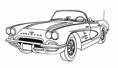 Cars Coloring Pages Drawings Line Bing Corvette