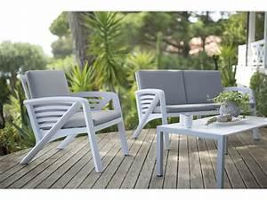 Salon Jardin 2 Places : salon bas de jardin 4 personnes r sine alu canap 2 ~ Melissatoandfro.com Idées de Décoration