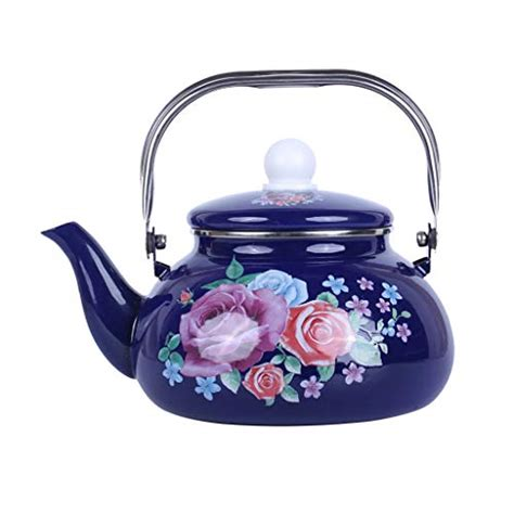 tea enamel kettle pot teapot thickening whistle called thick gas traditional ball national kettles milk