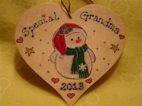 Wooden Heart Christmas Decorations