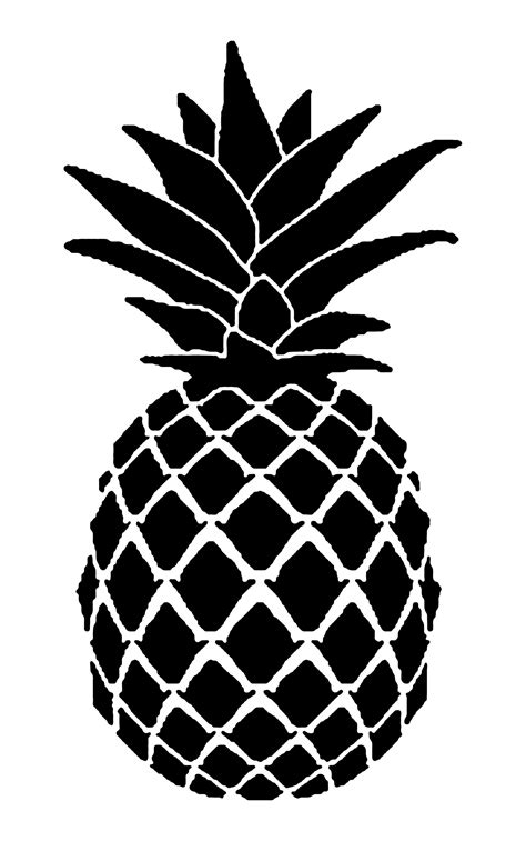 If you're searching for free svg files for cricut or silhouette: Pin by 方式 on 123 | Stencil template, Pineapple, Stencils