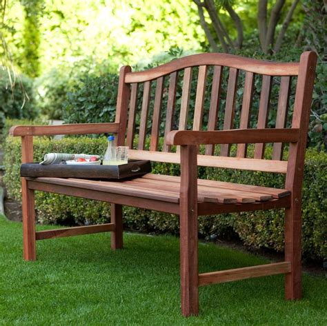 outdoor wood bench patio accent garden deck porch yard