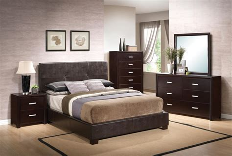 coaster andreas vinyl upholstered  profile bedroom set