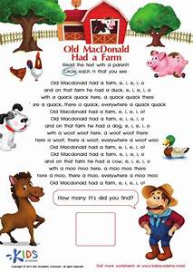 Old Mcdonald Lyrics And Coloring Pages