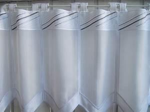Scheibengardinen 100 Cm Hoch : scheibengardine wei grau modern stickmuster 45 cm hoch ~ Bigdaddyawards.com Haus und Dekorationen