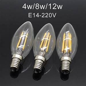 Dimmbare Led E14 : gro handel neue design energieeinsparung led lampe gl hfaden kerze dimmbare e14 4w 8w12w ~ Buech-reservation.com Haus und Dekorationen
