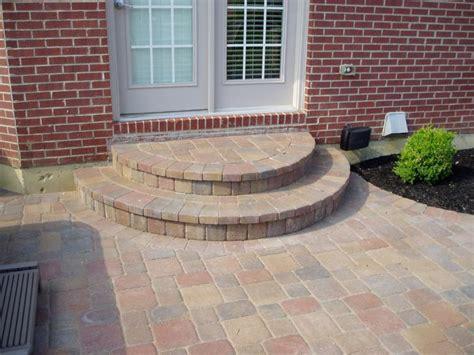 unilock steps installation paver step installation lawnsite