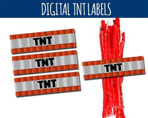 minecraft tnt labels candy wrappers littlelight