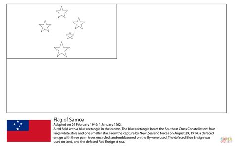 cook island flag template flag of samoa coloring page free printable coloring pages