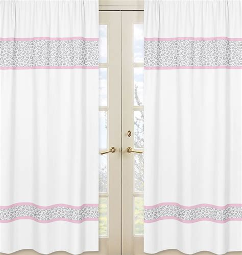 Sweet Jojo Window Curtains by Sweet Jojo Designs Pink And Gray Kenya Collection Window