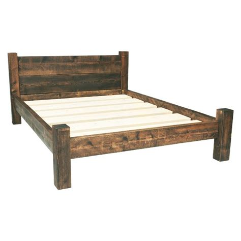 Sized Bed Frame by Best 25 Rustic Bed Frames Ideas On Diy Bed