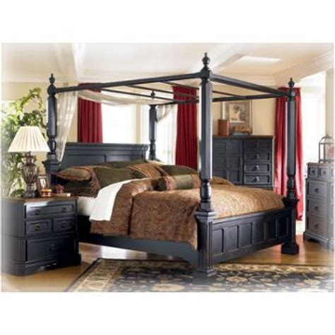 ashley furniture rowley creek bedroom bed queen canopy