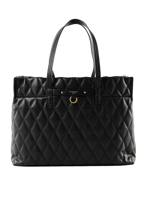 Givenchy - Duo quilted black tote bag - totes bags ...
