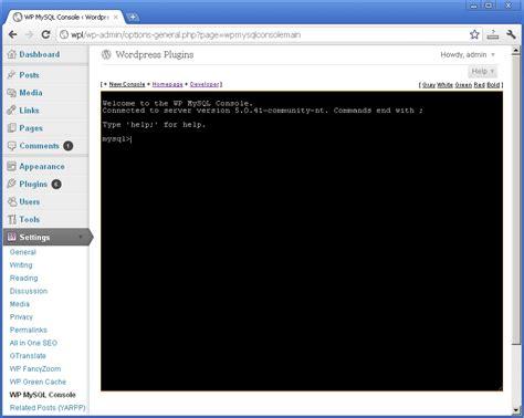 Wp Mysql Console 0.2
