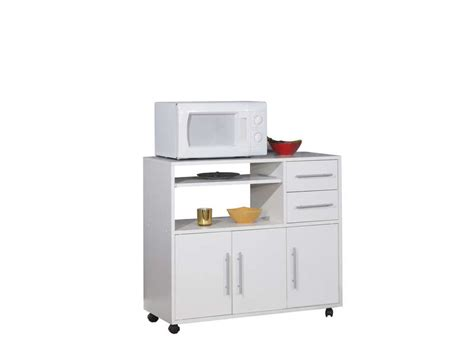 meuble cuisine pour micro onde desserte micro ondes pretty coloris blanc vente de
