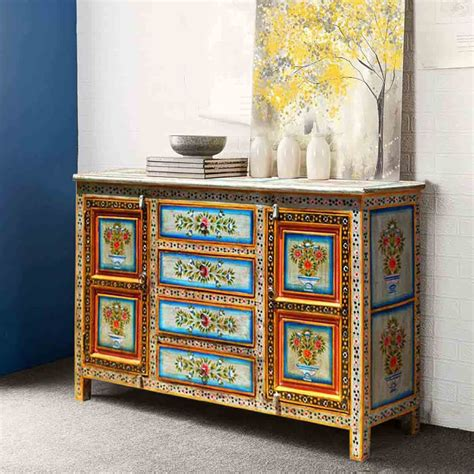 Painted Sideboards Buffets by Dahlia Painted 4 Drawer Sideboard