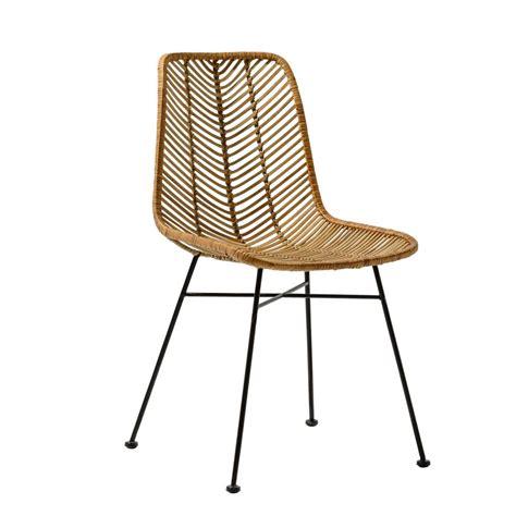 chaise en rotin but bloomingville chaise lena rotin naturel bloomingville interiors