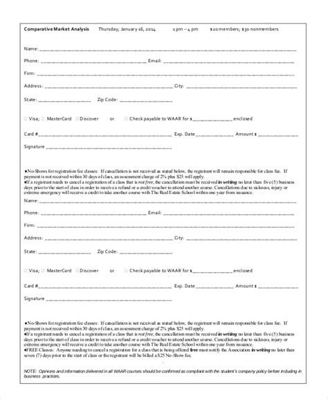 comparative analysis template 9 comparative market analysis sles sle templates