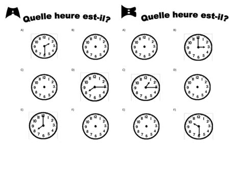 l heure time in french by anon874 teaching resources tes