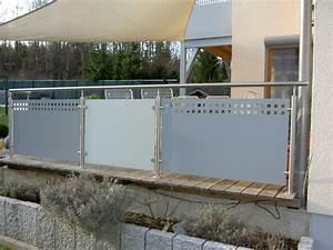 Edelstahl Sichtschutz Metall : terrassengel nder ~ Orissabook.com Haus und Dekorationen