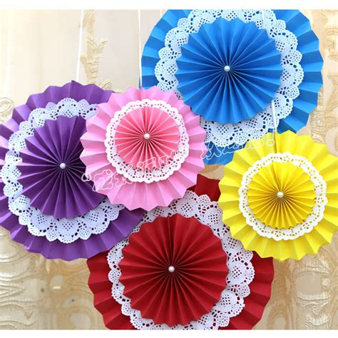 pcslot cm paper fan flowers fan design cute crafts