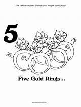 Days Christmas Coloring Pages Twelve Gold Rings Printables Printable Five Ring Kidscanhavefun Boy Games Worksheets Drummer Partridge Getdrawings sketch template