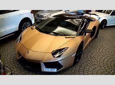 Matte Gold Oakley Design Lambo Aventador + ADV1 Rims