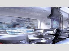 ArtStation Future Train Interior 2, Edon Guraziu