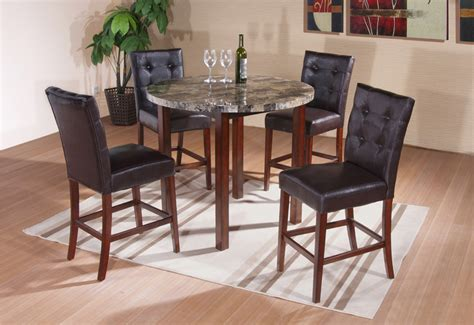 round marble kitchen table and chairs kings brand faux marble round dining room kitchen pub