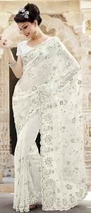 Elegant bridal white saree #southasianwedding # ...