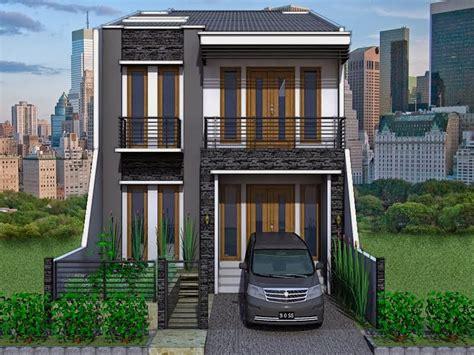 denah  desain rumah tingkat minimalis terbaru
