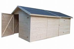 Garage Aus Holz : carports und garagen garage aus holz 3 3x4 8m 19mm cadema g nstigste gartenh user und ~ Frokenaadalensverden.com Haus und Dekorationen