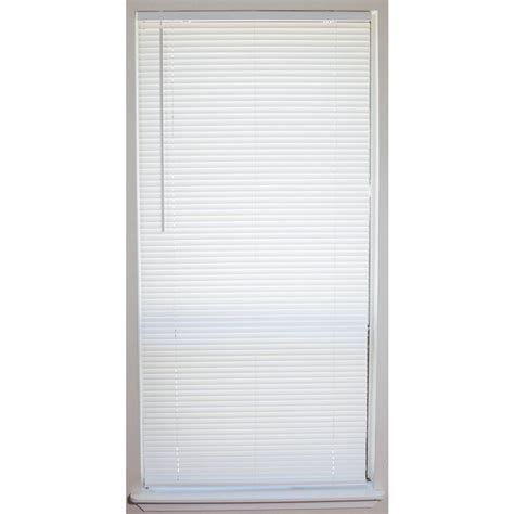 Mini Blinds by White Cordless 1 In Vinyl Mini Blind 46 In W X 64 In