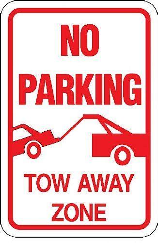 parking tow  zone  car  towed sign barco
