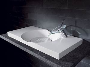 Lavabo lave main avec vasque design photo 11 20 une for Salle de bain design avec vasque en verre castorama