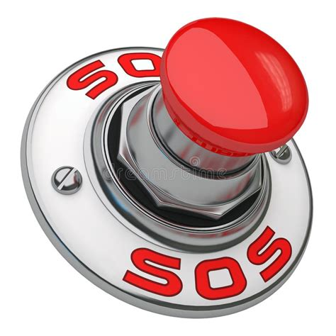 Sos Button stock illustration. Illustration of help ...