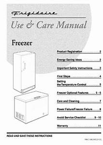 Frigidaire Ffc05c2aw1 Freezer Use  U0026 Care Manual Pdf View