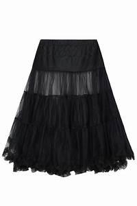 Hell Bunny Black Petticoat Flare Skirt Plus Sizes 14 16 18