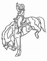 Coloring Horse Cowgirl Printable Riding Horses Cowgirls Cowboy Printables Rodeo Coloriage Stencils Indians Indian Bucking Cheval Clipart Template Appear Printed sketch template